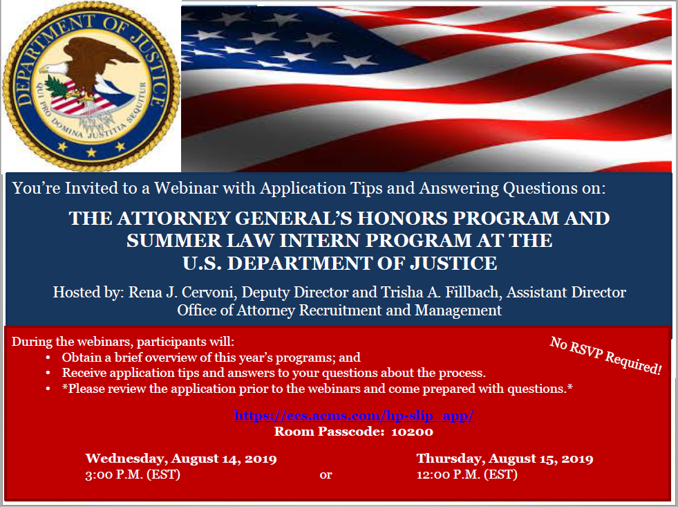Attorney General's Honors Program and Summer Law Intern ...