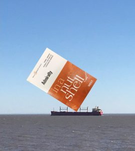 Admiralty in a Nutshell book on top of a boat