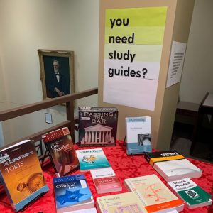 you need study guides? book display