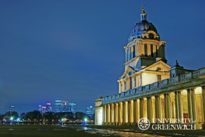 University of Greenwich at night