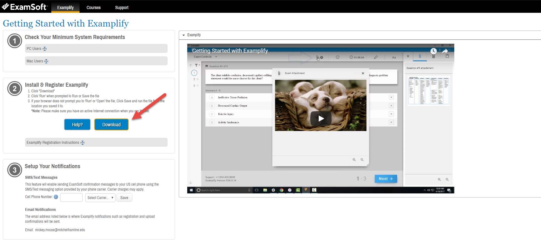New Instructions for Logging Into Examplify and ExamSoft Portal